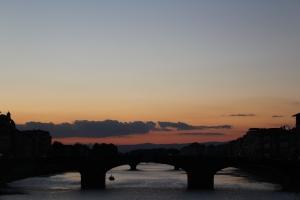Sunset on the Ponte Vecchio